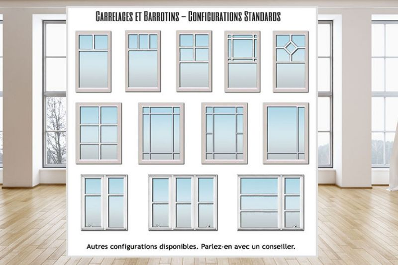 CONFIGURATIONS DE CARRELAGES ET BARROTINS STANDARDS